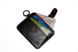 """Оригинальный мини-бумажник из кожи для кредиток/визиток и бумажных купюр Вы всегда можете купить в интернет-магазине """"SOIN-STORE"""""""