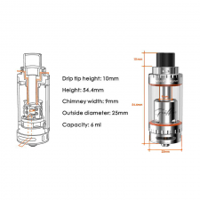 GeekVape Griffin 25 6ml RTA top AFC in SOIN-STORE