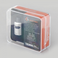 GeekVape Tsunami 24 RDA Glass Window Version (silver) in SOIN-STORE.ru